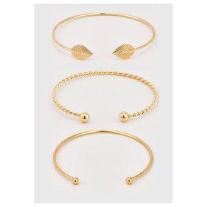 Jewelry - Gold Cuff Bracelet Trio